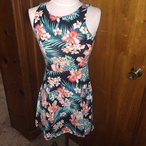 Victoria's Secret Hawaiian floral skater dress xs